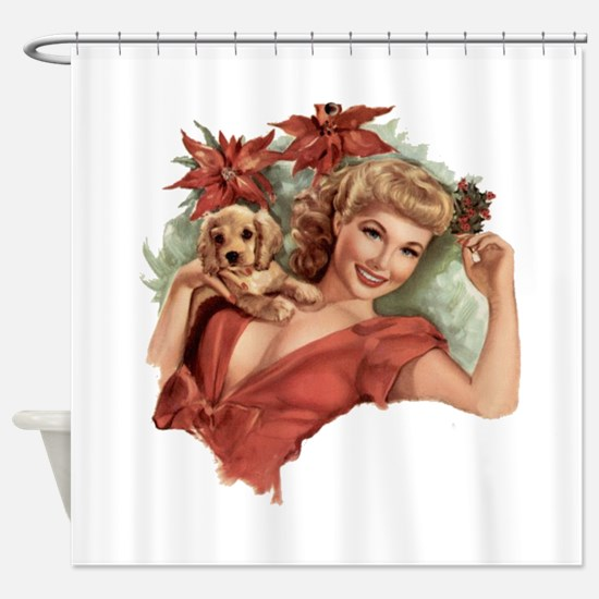 A Lovely Holiday Shower Curtain