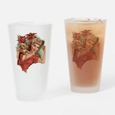 A Lovely Holiday Drinking Glass