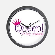 Queen of my Universe Wall Clock