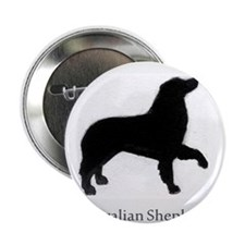 "Australian Shepherd profile 2.25"" Button"