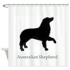Australian Shepherd profile Shower Curtain