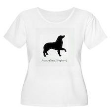 Australian Shepherd profile Plus Size T-Shirt
