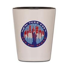 NYC Big Apple patriot Shot Glass