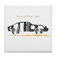 Anthony black car Tile Coaster