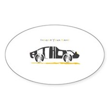 Anthony black car Oval Decal