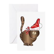 Santa Cat Greeting Cards