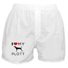 I Love My Dog Plott Boxer Shorts