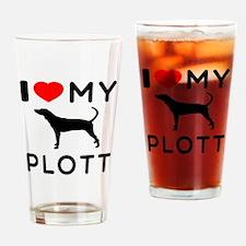 I Love My Dog Plott Drinking Glass