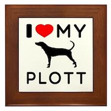 I Love My Dog Plott Framed Tile
