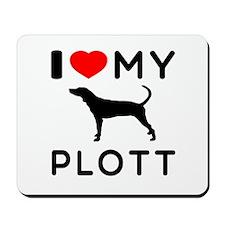 I Love My Dog Plott Mousepad