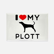 I Love My Dog Plott Rectangle Magnet (100 pack)