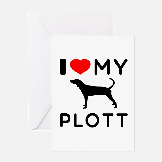 I Love My Dog Plott Greeting Card