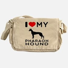 I Love My Pharaoh Hound Messenger Bag