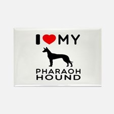 I Love My Pharaoh Hound Rectangle Magnet