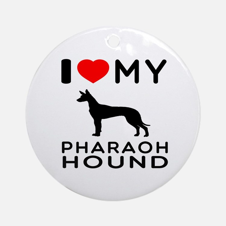 I Love My Pharaoh Hound Ornament (Round)