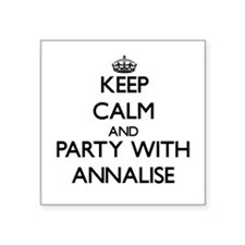 Keep Calm and Party with Annalise Sticker