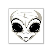 "Lucky7's Alien Head Square Sticker 3"" x 3"""