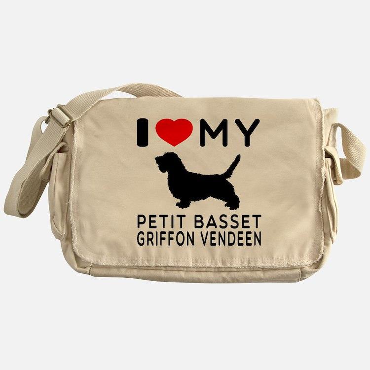 I Love My Petit Basset Griffon Vendeen Messenger B