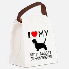 I Love My Petit Basset Griffon Vendeen Canvas Lunc
