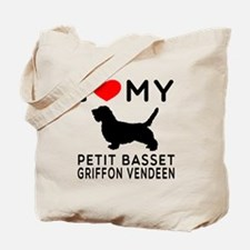 I Love My Petit Basset Griffon Vendeen Tote Bag