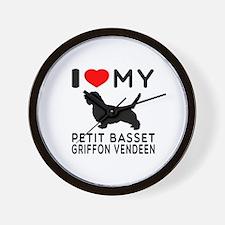 I Love My Petit Basset Griffon Vendeen Wall Clock