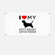 I Love My Petit Basset Griffon Vendeen Banner