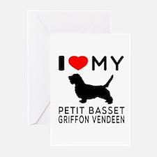 I Love My Petit Basset Griffon Vendeen Greeting Ca