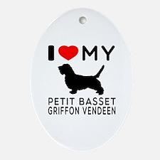 I Love My Petit Basset Griffon Vendeen Ornament (O