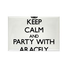 Keep Calm and Party with Aracely Magnets