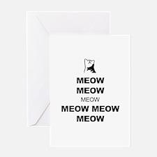 Keep Calm (Cat Meow) Greeting Card