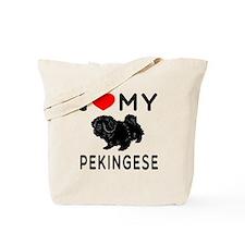 I Love My Pekingese Tote Bag