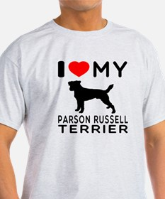 I Love My Parson Russell Terrier T-Shirt