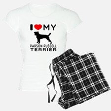 I Love My Parson Russell Terrier Pajamas