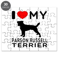 I Love My Parson Russell Terrier Puzzle