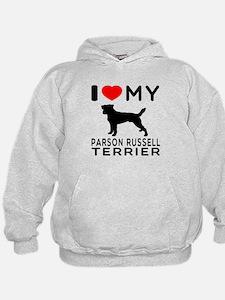 I Love My Parson Russell Terrier Hoodie