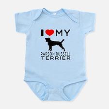 I Love My Parson Russell Terrier Infant Bodysuit