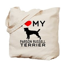 I Love My Parson Russell Terrier Tote Bag