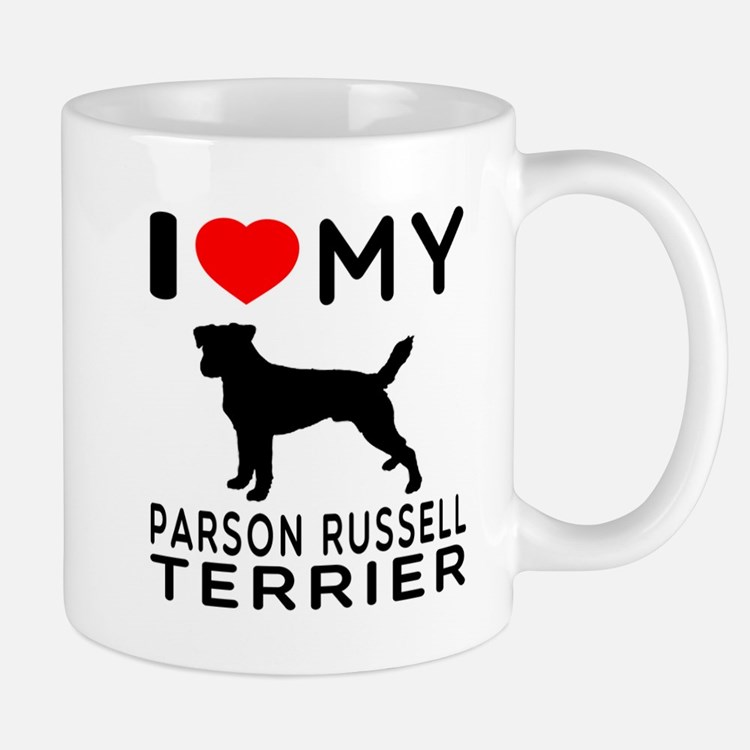 I Love My Parson Russell Terrier Mug
