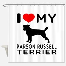 I Love My Parson Russell Terrier Shower Curtain