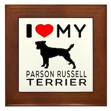 I Love My Parson Russell Terrier Framed Tile