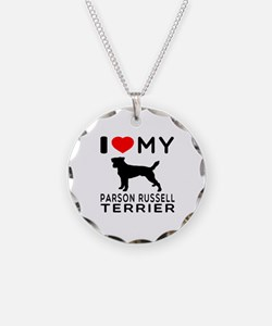 I Love My Parson Russell Terrier Necklace