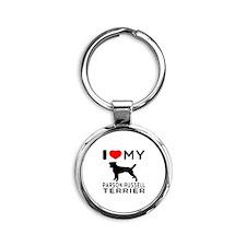 I Love My Parson Russell Terrier Round Keychain