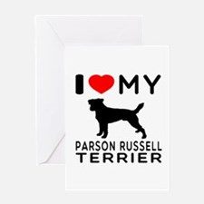 I Love My Parson Russell Terrier Greeting Card