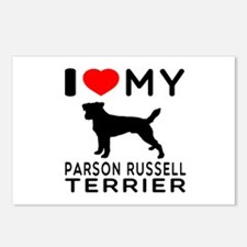 I Love My Parson Russell Terrier Postcards (Packag
