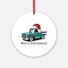 BabyAmericanMuscleCar_57BelR_Xmas_Green Ornament (