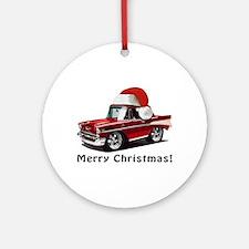 BabyAmericanMuscleCar_57BelR_Xmas_Red Ornament (Ro