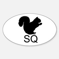 Euro Squirrel Oval Decal