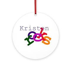 Kristen Rocks Ornament (Round)