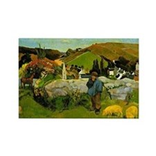 Paul Gauguin painting: Swineherd, Rectangle Magnet