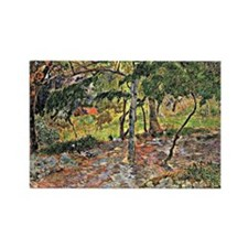 Gauguin - Tropical Landscape, Mar Rectangle Magnet